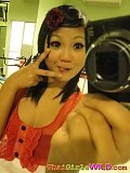 Tiny cute Asian teen doing self shot poses and being naughty