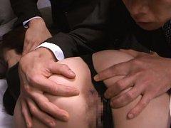 Kyoko Nakajima Asian in office suit has asshole ex...