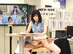 Mayu Aine Asian has to present news while having t...