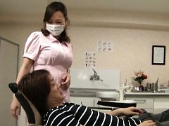 Japanese AV Model busty is touched under uniform a...