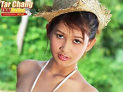 Tar Chang Strips Red Dress And Bares Pert Tits