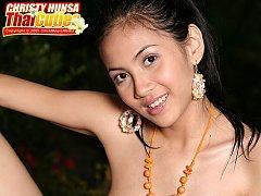 Breasty Christy Hunsa Dildo Play
