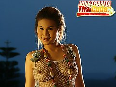 Breasty June Tharita Dusk Rooftop Strip
