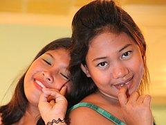 Cock-hungry pair of naughty Filipinas enjoy dick