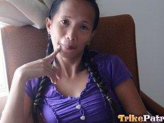 Wild and horny Filipina MILF enjoys foreign white...