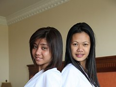 Two sexy Filipina nurses give special care to luck...