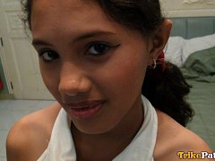 18 year old Filipina babe picked up roadside then...