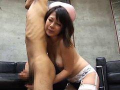 Yuna Haruma Asian in panty licks man while strokin...