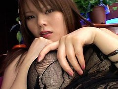 Japanese AV Model in office outfit is licked on cu...