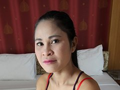 Killer Thai MILF pussy and ass exposed during stri...